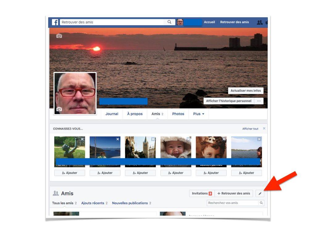 Facebook Cacher la liste de mes amis.003