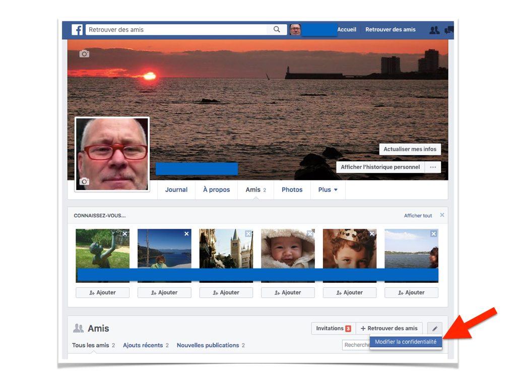 Facebook Cacher la liste de mes amis.004