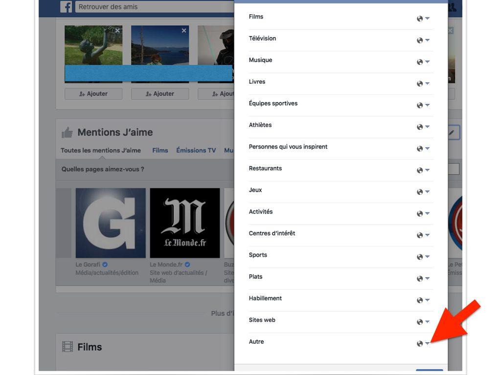 Facebook Qui peut voir mes mentions J'aime.006