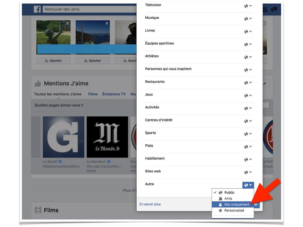 Facebook Qui peut voir mes mentions J'aime.007